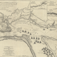 An authentic plan of the River St. Laurence from Sillery, to the Fall of Montmorenci, with the operations of the Siege of Quebec