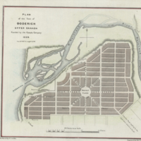 Plan of the town of Goderich Upper Canada founded by the Canada Company 1829