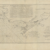 A chart of the harbour of Halifax, in Nova Scotia