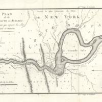 Plan de la cataracte de Niagara et de l'isthme qui separe les Lacs Erie et Ontario