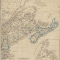 Lower Canada, New Brunswick, Nova Scotia, Prince Edwards Id. Newfoundland, and a large portion of the United States