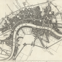 A plan of the city and environs of London as fortified by order of Parliament in the years 1642 & 1643