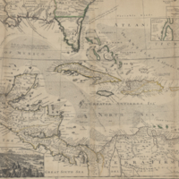 A map of the West-Indies or the islands of America in the North Sea