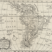 South America upon the globular projection