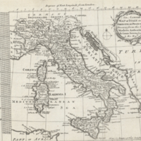 An accurate map of Italy on a spheroidical projection