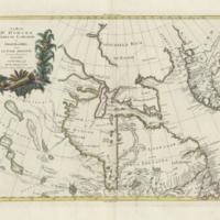 La Baja d'Hudson, terra di Labrador e Groenlandia con le isole adiacenti di nuova projezione
