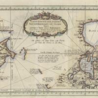 Carte reduite des parties septentrionales du globe, situées entre l'Asie et l'Amerique