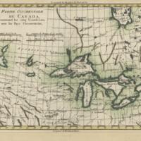 Partie occidentale du Canada, contenant les cinq Grands Lacs, avec les pays circonvoisins