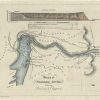 Sketch of Niagara River between Queenston & Chippewa