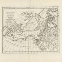 Carte générale des découvertes de l'Amiral de Fonte representant la grande probabilité d'un passage au nord ouest