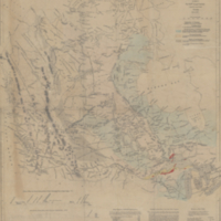 Map of the north west part of Canada, Hudson's Bay & Indian territories