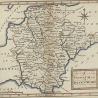 A correct map of Devonshire