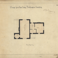 Design for a gate lodge Burlington Cemetery, sheet no. 3