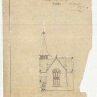 Design for a gate lodge, Burlington Heights Cemetery, Hamilton, sheet [no. 5]