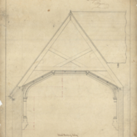 Design for a gate lodge Burlington Cemetery, sheet no. 8