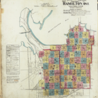 [Insurance plan of the city of Hamilton, Ontario, Canada] : [key plan, first sheet]