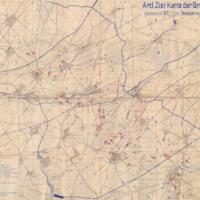 Artl. Ziel-Karte der Gruppe Cambrai