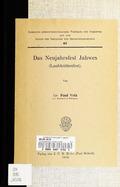 Das  Neujahrsfest Jahwes