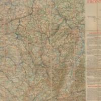 Carte de la Frontiere Nord-est de la France