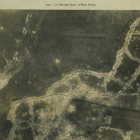Aerial photo, World War, 1914-1918; La Bassee canal; Scarpe river..