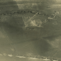 Aerial photo, World War, 1914-1918; Bullecourt; Fontaine-les-Croisilles; Hindenburg Line.. April, 1917.