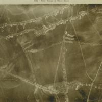 Aerial photo, World War, 1914-1918; Scarpe river; Ancre river..
