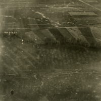 Aerial photo, World War, 1914-1918; WW1 Trench Maps: France. July, 1918.