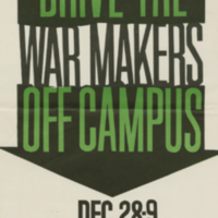 Student Association to End the War in Vietnam, poster, 28-29 December [196-]