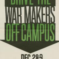 Student Association to End the War in Vietnam, poster, 28-29 December [196-]