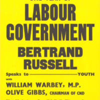 Youth Campaign for Nuclear Disarmament (YCND), poster, 14 October [1965]