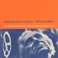 London Committee of 100, poster, September [1962]
