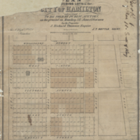 Plan of building lots in the City of Hamilton