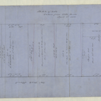 Sketch of lots taken from title deeds, April 6th 1857.