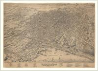 Bird's eye view of the City of Hamilton : Province Ontario, Canada, 1876