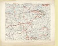 sheet number part of sheet 27 edition number 2 secret allied railway map june 1918 at head of map belgium 1100000