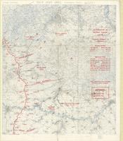 First Army area (extension east), secret : distribution of German forces, [August 1918]