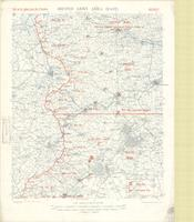 Second Army area (east) : sketch map, showing supposed location of enemy's forces on 15th March, 1917