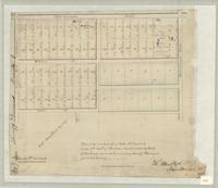 Plan of the south ends of lots nos 13 and 14 in the 4th Conn of Barton, divided into 59 lots of about one acre each