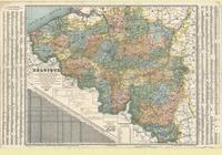 Nouvelle carte de la Belgique, physique et administrative