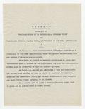 """Adresse votée par le \""""Comité d'action et de défense de la jeunesse juive\"""""""