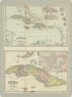 Rand, McNally & Co.'s new 14 x 21 map of the West Indies ; Rand, McNally & Co.'s indexed atlas of the world, map of Cuba