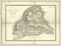 Carte des bouches de Cattaro et du Montenegro
