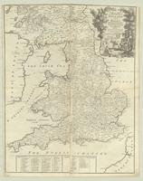 A modern map of the post roads of England and Wales, with part of Scotland