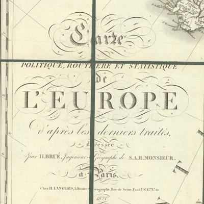 Carte politique, routiere et statistique de l'Europe d'après les derniers traités (4 sheets)