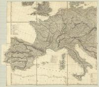 Map exhibiting the great post roads, physical and political divisions of Europe... : [Sheet 3]
