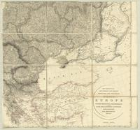 Map exhibiting the great post roads, physical and political divisions of Europe... : [Sheet 4]