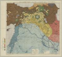 Map of eastern Turkey in Asia, Syria and western Persia (ethnographical)
