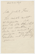 Letter, Franz Liszt to [Mrs. Reisenauer-Pauly]