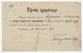 Letter, Franz Liszt to Felicia Svitalska