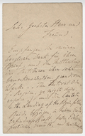 Letter, Franz Liszt to Otto Singer